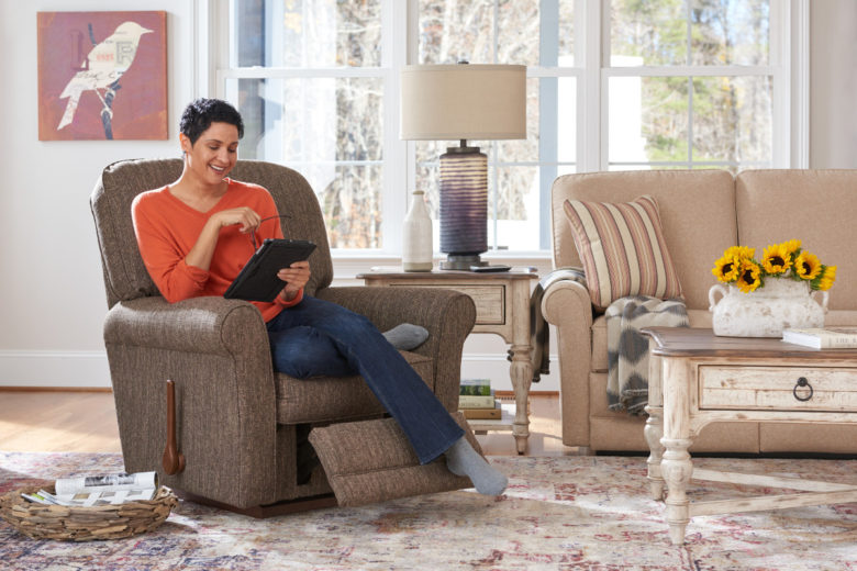 Offset Your Recliner with Tables and Lamps