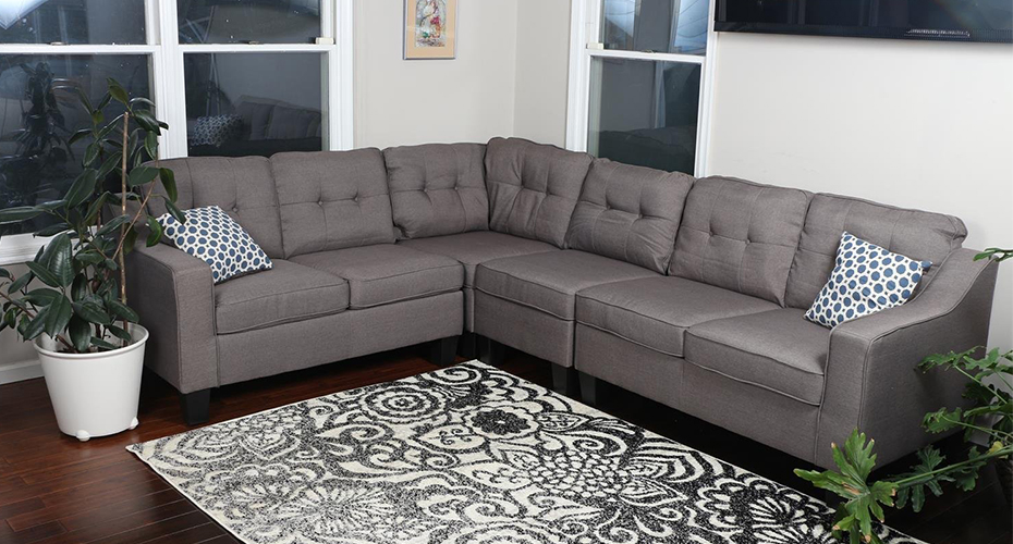 Oliver Smith Modern Contemporary Sectional Sofa