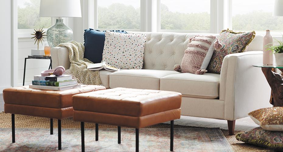 Sofa Backrests Tufted Back Pillow Back Tight Back