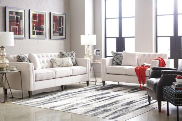 La-Z-Boy Alexandria Sofa Pet Friendly Fabric D153431 Linen