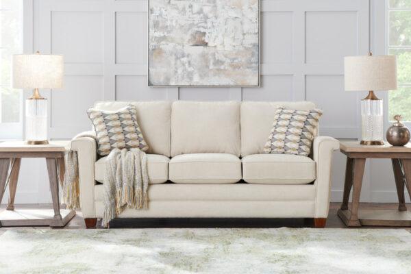 La-Z-Boy Bexley Sofa Pet Friendly Fabric D156431 Ivory