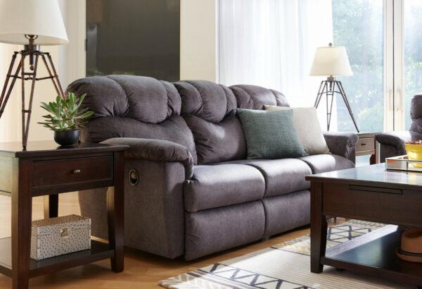 La-Z-Boy Lancer Sofa Pet Friendly Fabric D143057 Charcoal