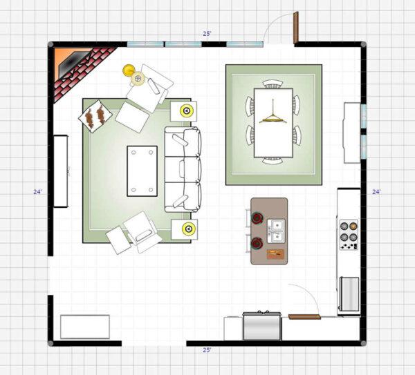 La-Z-Boy Free Design Service 3D Room Plan